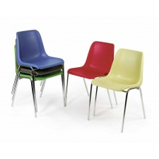 Stackable plastic shell chair