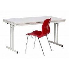Folding table for canteens and refectories