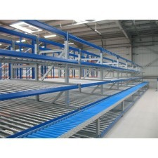 Dynamic racking for boxes and bins