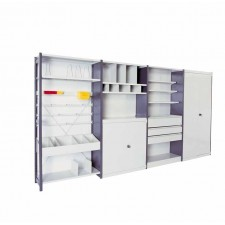Shelving with galvanised or painted Epsilon shelves