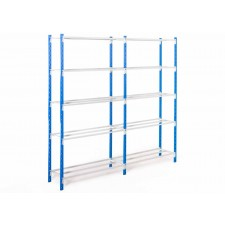 Shelving with Flip tubular shelves