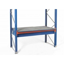 Containment pallet for storage rack
