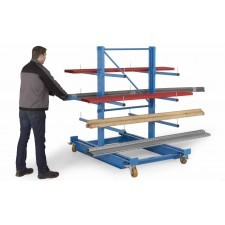 Cantilever arm trolley