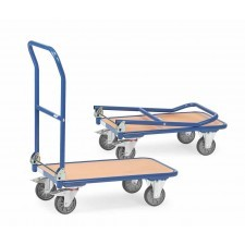 Trolley with fold-down back
