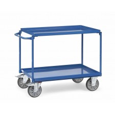 Sealed-shelf trolley