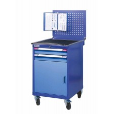 Mobile cabinet with drawers