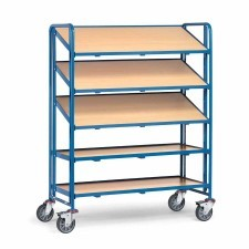Rolling rack for plastic bins