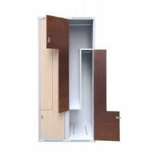 Bürogarderobenschrank mit L-förmiger Tür
