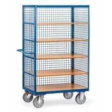 Tall multi-shelf trolley