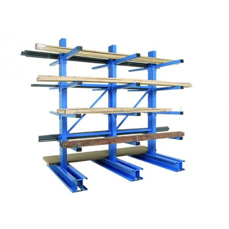 Cantilever racking for light and semi-heavy loads