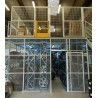 Plateforme de stockage avec cloison industrielle grillagée